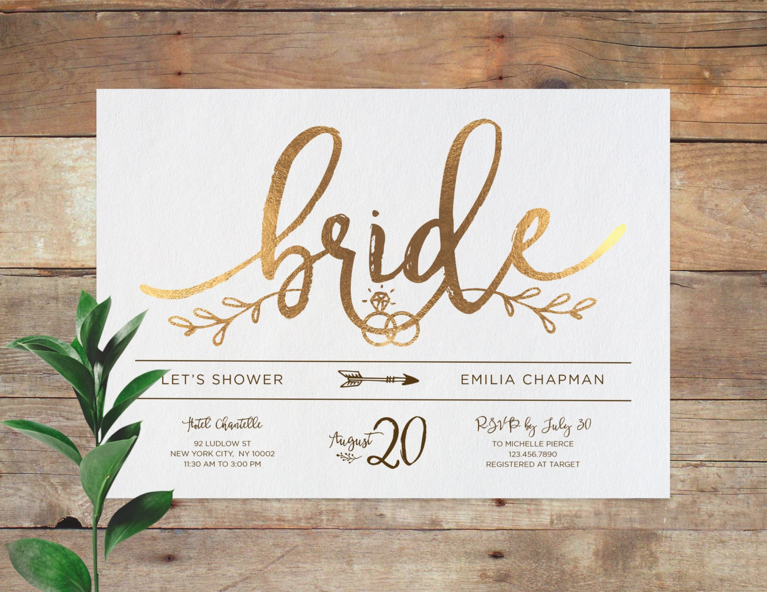 Emilia bridal printable bridal shower invitation shower for Invitations for wedding shower