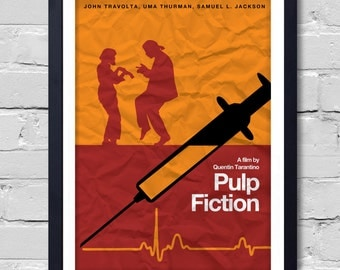 Quentin Tarantino Minimalist Movie Poster  Pulp Fiction