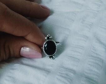 Onyx Stone Ring Size 6