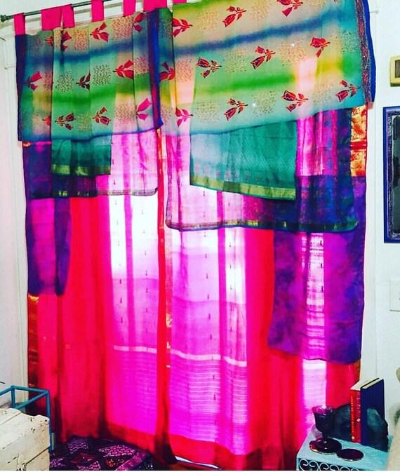 Handmade Sari Curtains