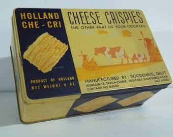 Vintage Holland Che Cri Cheese Crispies Tin