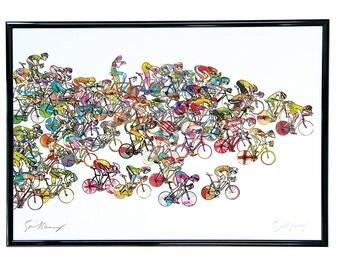 Cycling Print 'Bunchsprint'