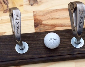 CUSTOM ORDER for Jenny - Golf Club Coat/Hat Rack (Taylormade Club Upgrade)