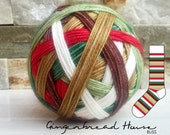GINGERBREAD HOUSE w/white mini | ready-to-ship | 80/20% Superwash merino and nylon