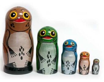 Nesting Dolls Frog russian matryoshka doll Frogs - kod47p