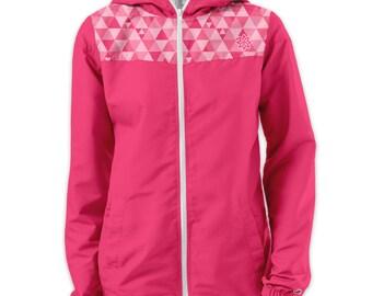 Medium - Pink Tri-Athletic Windjammer - Hooded Windbreaker Jacket