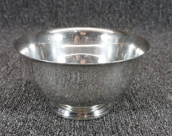 """International Silver Co. Webster Wilcox 6""""W X 3 1/4""""T Silverplated Footed Bowl"""