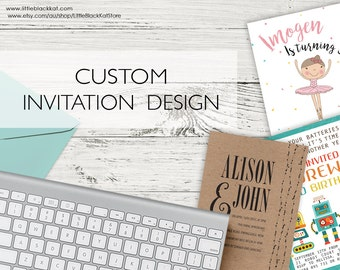 Custom Invitation Design - Personalised Digital File