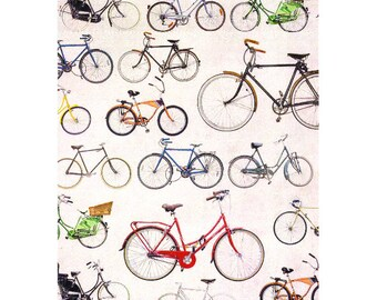 Decoupage Paper, Scrapbook paper, Bicycle, bicycles, bike, bicycle pattern, big bicycles, book covers, book binding, die cuts, cutouts, card