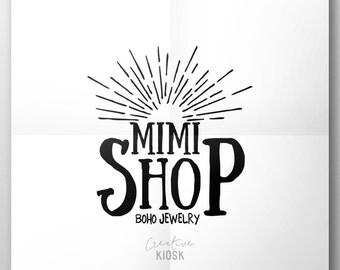 Vintage Business Logo Design. Retro Shop Logo. Instant Download. Photography Watermark. DIY Branding. PSD Template. #0098.