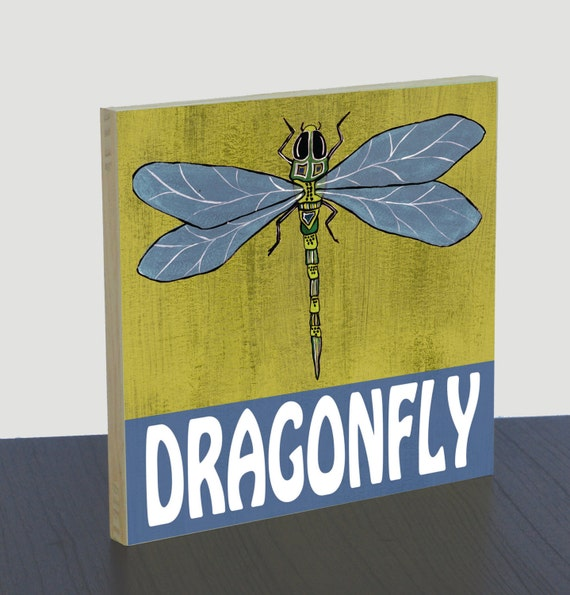 Dragonfly Nursery Wall Decor : Dragonfly nursery art print panel wall