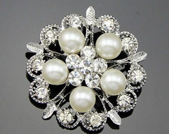 10 pcs Bridal Invitations Crystal Rhinestone,Wedding Brooch Bouquet Cake Decoration Hair Comb Shoe Clip Jewelry DIY Supply Aa033