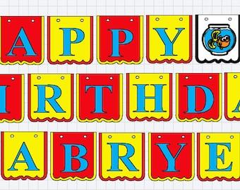 Elmo Birthday Banner, Elmo Banner, Sesame Street Birthday Banner, Elmo Party Decor