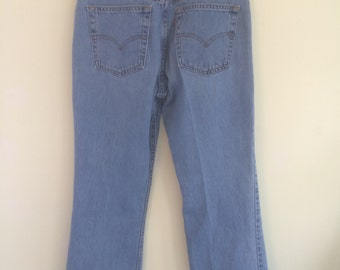 Size 10S Levi Strauss 515 Denim Jeans vintage Made in USA RedTab (1)