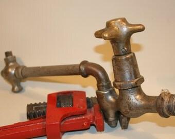 1940 Vintage Water Faucet, Old Brass Spigot, Water Spigot, Antique water tap, Faucet, Spigot. Brass water faucet, Bronze Tap, Industrial