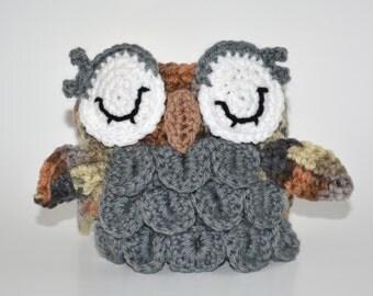 Crochet Owl Mug Cozy Crocheted for Tea Coffee Mug or Traveler