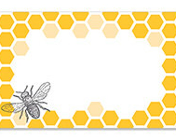 Bee Gift Cards Enclosure Cards Bee Gift Card Honeycomb Gift Card Bee Note Card Gift Wrapping Paper Paper Party Supplies