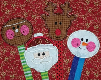 Christmas Book Buddies Embroidery Machine Designs for the 4x4 hoop