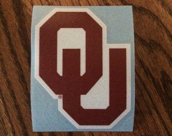 "Oklahoma Sooners 3"" Die-Cut Vinyl Decal, Set of 2, Yeti"