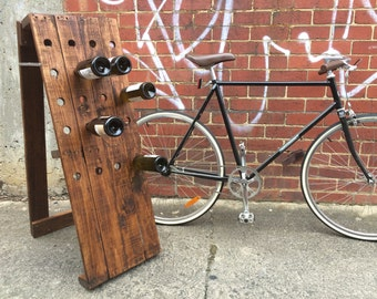 Wine Rack. Kitchen. Rustic. Minimal. Artisan Design. Pine With Teak Stain Handcrafted In Melbourne By BryceandCo