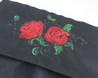 Embroidered clutch, handbag, evening bag, ABI