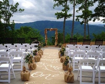 Wedding aisle runner Ephesians 5:31