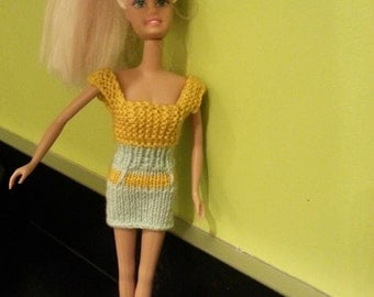 Blue n yellow dress for Barbie
