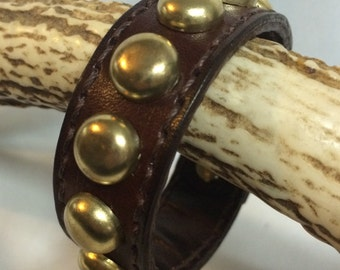Leather Bangle with Studs