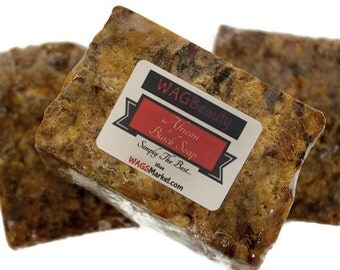 AFRICAN BLACK SOAP - Raw- (imported)  16oz (1lb) 100% Natural and Handmade