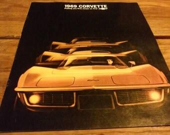 1969 Chevrolet Corvette Dealer Sales Broucher, Vintage Corvette Memrobila,Chevy Dealer Covette Sales Book,Corvette Dealer Give away