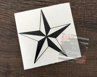 Texas Star Decal | Texas Decal | Star Sticker | Texas Star | Yeti Tumbler Decal | Car Window Decal | iPhone | iPad | Star Decal