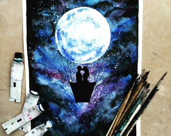 Fly Me To The Moon Print