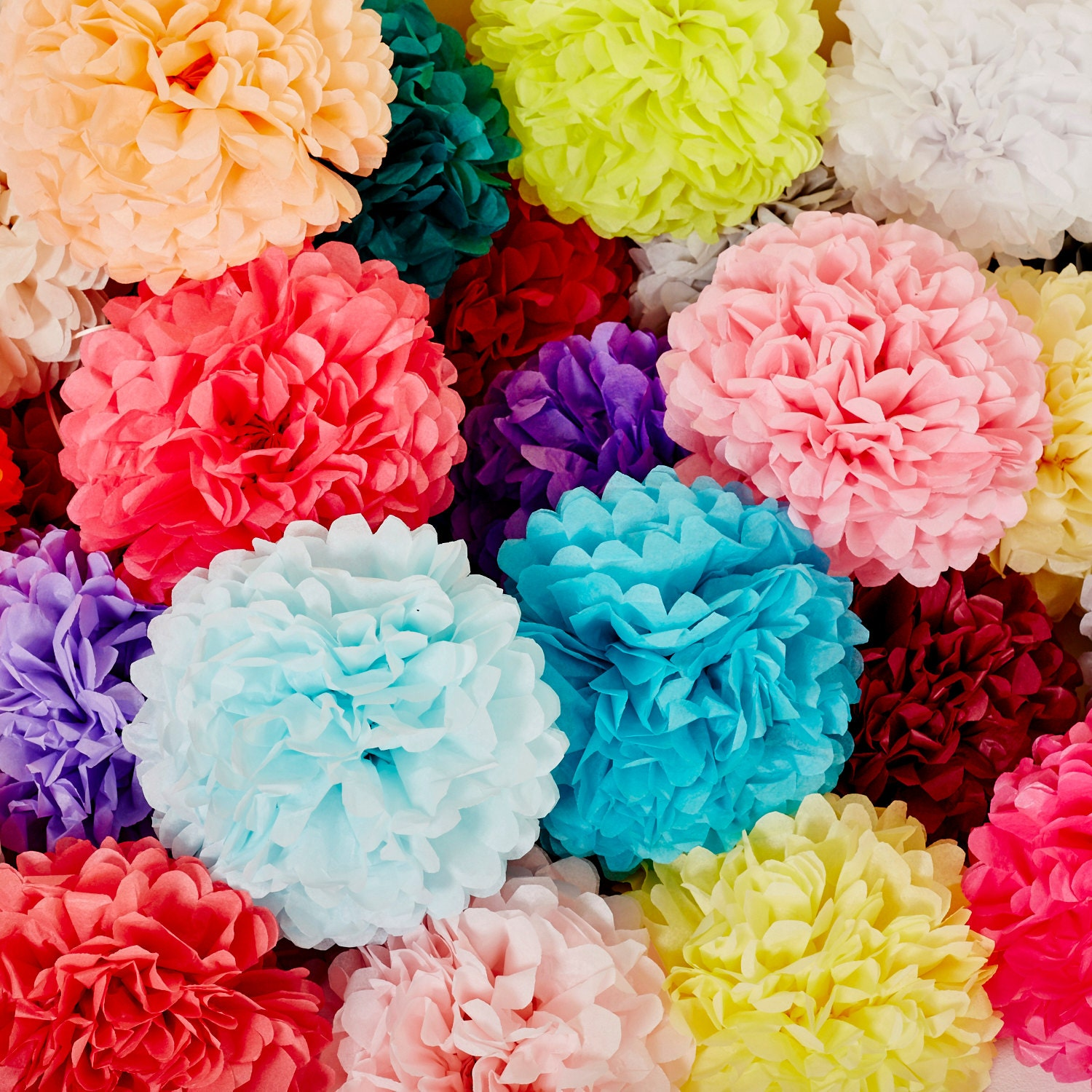 paper pom pom I'm a big fan of using tissue paper pom poms in my party decor what i love about  them is that they are inexpensive and can be used in a variety of ways.