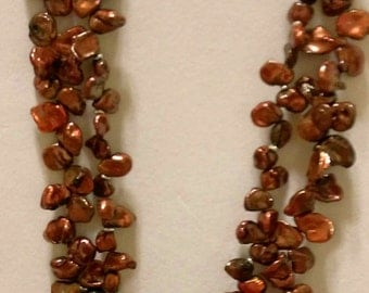 Keshi Freshwater Pearl Double Strand Necklace