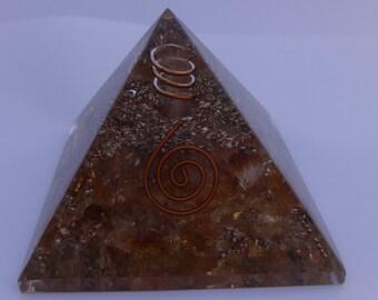 Citrine Orgone Pyramid Healing, Reiki