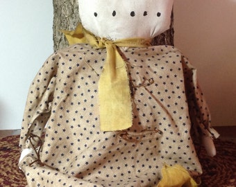 Handmade Primitive Snowman Doll