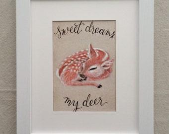 Sweet Deer print - 5x7