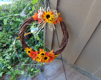 Fall tribute wreath-Ready to ship