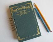hardcover book journal, junk journal - Rip Van Winkle - altered book journal, smash book