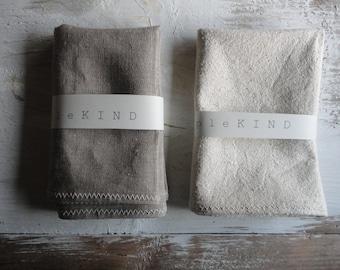 BATH or HAND TOWEL: handmade from only natural materials (linen, hemp, wild-silk)