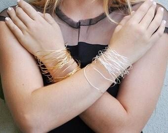 SALE hammered thin stack bangles bracelet , Stacking Bangles, boho braeclet, Hand Hammered, Christmas gift - Infinity