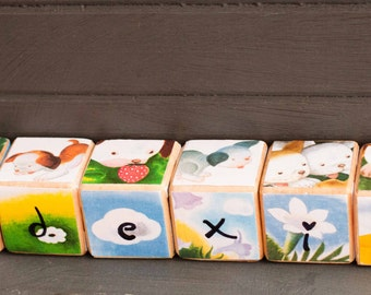 wooden blocks, baby blocks, little golden book, stacking toys, baby boy gift, baby girl gift, toy blocks, wood blocks, building blocks wood