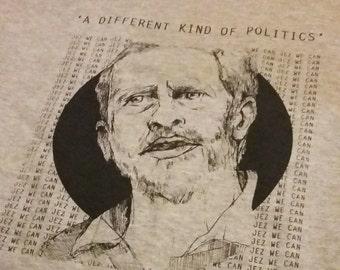 Jeremy Corbyn T-shirt Ash Grey