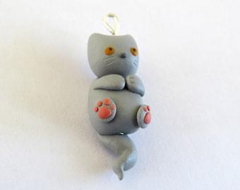 Mini Kitty with Toe Beans Pendant