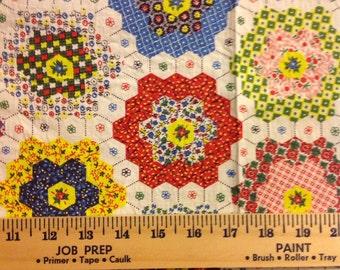 1 yd Grandmothers Flower Garden cheater cloth quilting quilt cotton