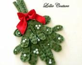 Felt Mistletoe Christmas Holidays Mistletoe