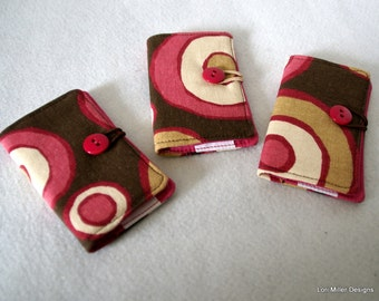 SALE - Trio of Card Holders - Hot Pink