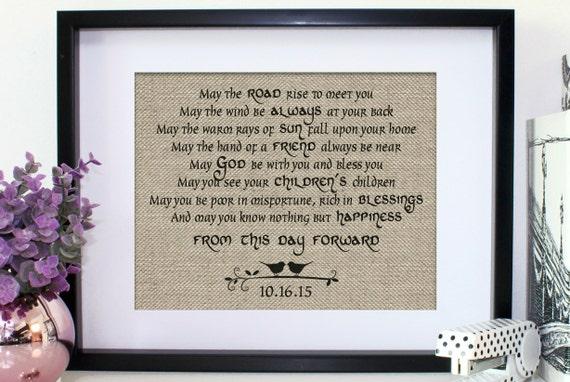 Burlap Print Personalized Irish Blessing Irish Wedding Gift ...