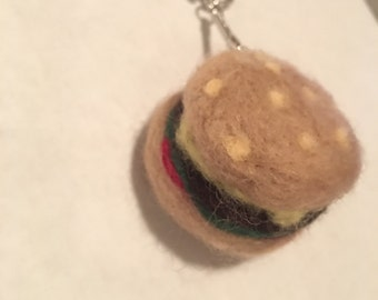 Cheeseburger Key chain charm