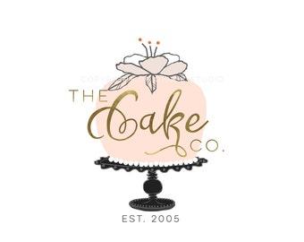 Affordable Custom Logo - Branding - Marketing - business logo - cake logo design - wedding - bakery logo - design - gold - BL154B
